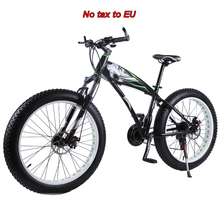 26 * 4 0 Fat bike 7 21 24 27 Speed Mountain bike Aluminum alloy Shock Absorbers Bicycle big tire Snow Bike cheap kaimarte Unisex 21 Speed 24kg 150kg 28kg Spring Fork (Low Gear Non-damping) Double Disc Brake 140-185cm 0 1 m3 Ordinary Pedal