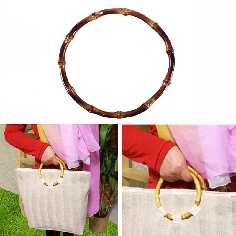 Creative Bamboo Round Bamboo Bag Handle For Handcrafted Handbag DIY Bags Accessories Good Quality DIY Bag Hand Pull