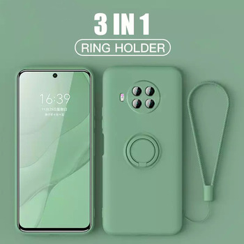 LOVECOM Liquid Silicone Ring Holder Case For Xiaomi POCO F3 X3 Pro 10T Pro 11 Redmi Note 10 Pro 10S 9 Pro Soft Strap Phone Cover 1
