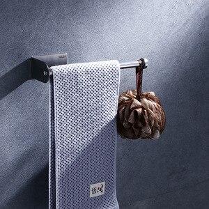 Image 4 - Nero Supporto Di Carta 304 In Acciaio Inox Barra di Tovagliolo Del Tessuto Rack per Bagno Cucina WC Igienica Tovagliolo Di Carta Rotolo di Supporto stand