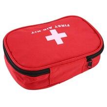 Аптечка Красная нейлон на открытом воздухе аварийного выживание кемпинг пустой мешок повязку препарата водонепроницаемый сумка для хранения 15*10*5см
