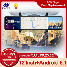 Car DVR Rearview-Mirror Dvrs-Support Video-Recorder Dash-Cam Rear Camera Gps Navigation