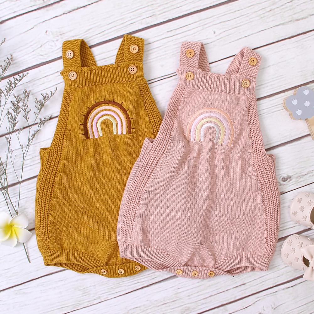 Newborn Baby Bodysuits Knitted Infant Bebes Body Tops Spring Autumn Toddler Kids Boys Girls Jumpsuits Outfits Children's Clothes