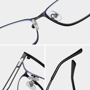 Image 4 - 안티 블루 라이트 광학 안경 프레임 남자 근시 처방 안경 프레임 지우기 컴퓨터 안경 합금 프레임 안경