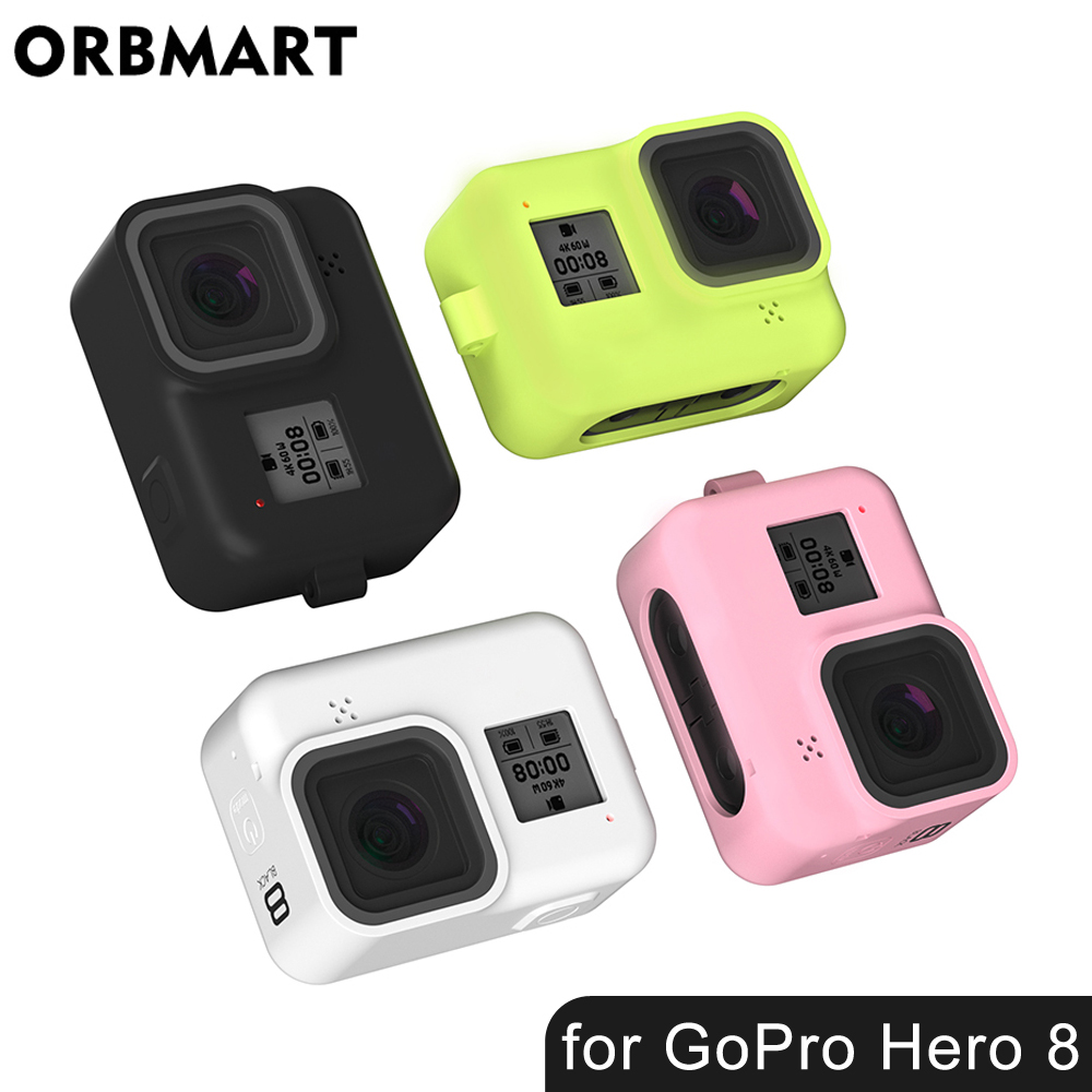 Silicone Case For GoPro Hero 8 Protective Silicone Case Skin Housing Cover Bag For GoPro Hero 8 Black Action Camera Accessories