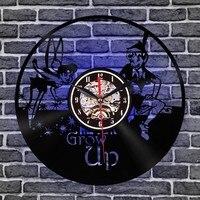 Creative3D Retro Wall Clock Music Notes Wall Clock Angel Kids Vinyl Record Clock Modern Wall Art Gramophone Record Clocks