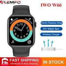 Original IWO W66 Smart Watch Men Women Bluetooth Call Smartwatch for IWO 14 Better Than IWO 13 13 Pro DIY DIALS Wireless Charger