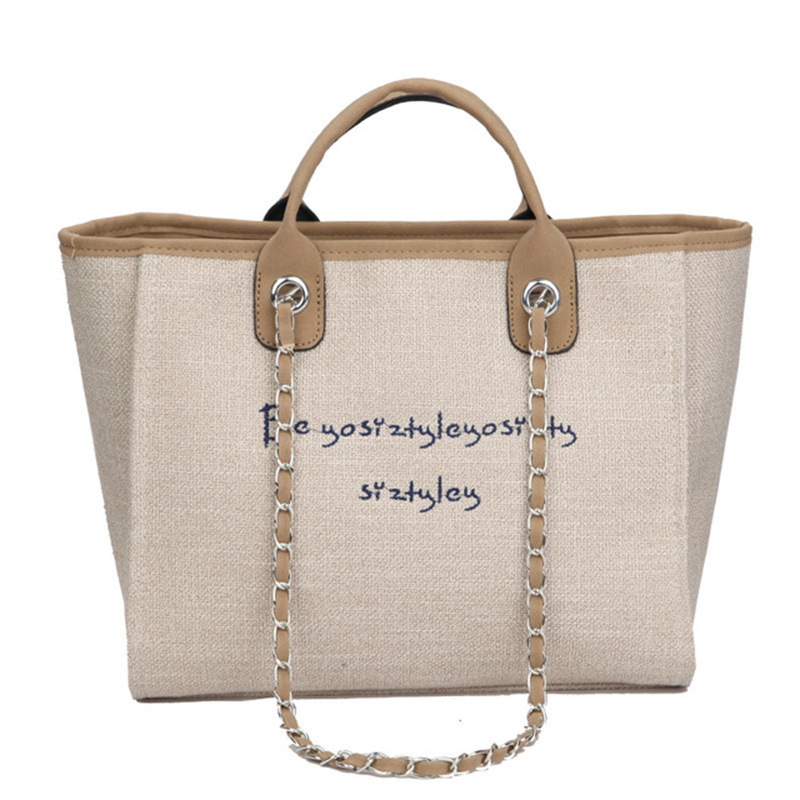 New Women's Bag Large Capacity Handbag Fashion Letter Tote Bags Simple Retro Travel Single Shoulder Bag Leisure Shopping Bags