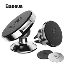 Baseus Magnetic Car Phone Holder For iPhone 11 Pro Samsung Air Vent Mount Holder Stand for Huawei Cell GPS Mobile Phone Holder(China)