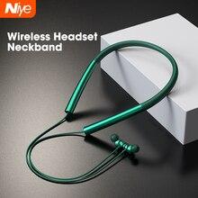 אלחוטי אוזניות עם מיקרופון, Bluetooth 5.0 אוזניות אוזן ניצנים, Neckband IPX5 עמיד למים ספורט ריצת אוזניות אוזניות