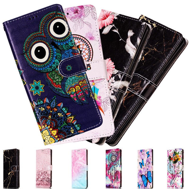 Flip Leather Case For Samsung Galaxy S20 S10 S9 S8 Plus Ultra S6 S7 Edge Note 10 Pro A51 A71 3D Relief Wallet Cover Phone Case