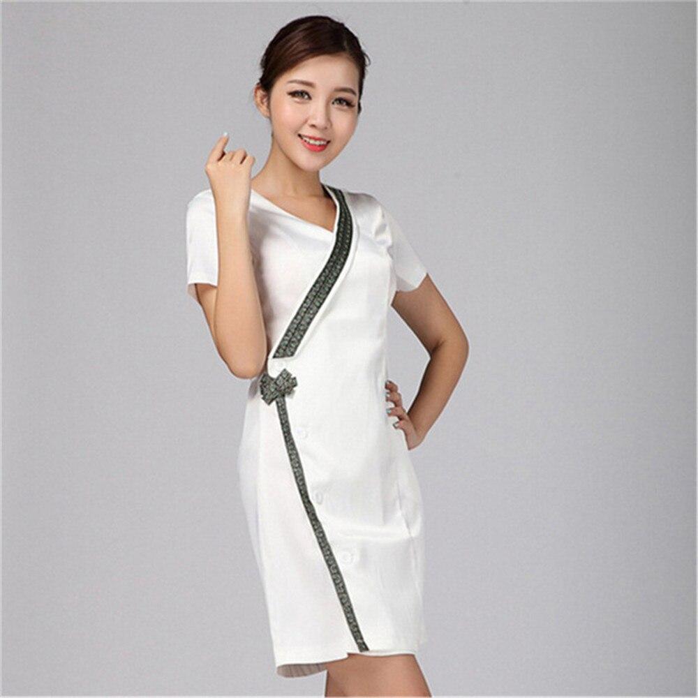 Обтягивающее платье для женщин с V-образным вырезом и короткими рукавами платье миди платье из джинсовой ткани женские летние с пришитой бе...