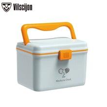 Family Medicine Storage Box Multi-function Cosmetics Multi-layer Plastic Vilscijon First Aid Kit 6659