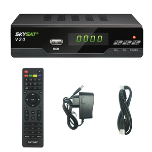 Image 4 - 위성 TV 수신기 SKYSAT V20 HEVC H.265 DVB S2 지원 CS Cline Newcamd RJ45 WiFi Powervu Biss M3U TV 수신기