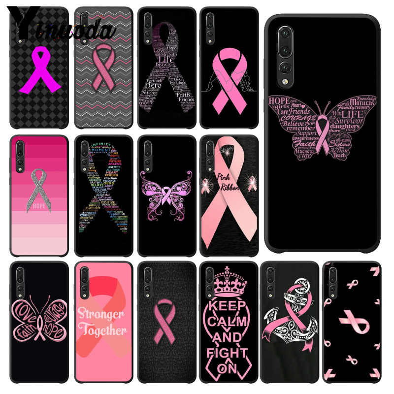 Yinuoda Meisje Borstkanker Pink Ribbon Tekening Telefoon Case Cover Shell Voor Haiwei P10 Plus Honor 9 10 View 10 mate 9 Coque Shell