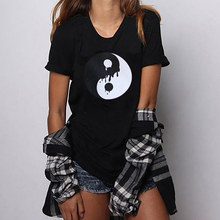 HillbillyTai Chi Gossip Short Sleeve Loose Tops Tees Graphic Harajuku Women Summer Casual Beach T Shirts Dames Kleding Zomer