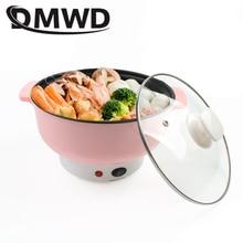 DMWD Мини электрическая сковорода из нержавеющей стали 1.2л мультикурсор горячий горшок лапша Приготовление на пару яиц нагреватель суп горшок нагревательная сковорода ЕС