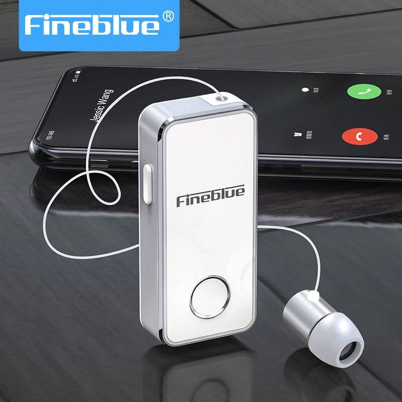 Fineblue f2 pro bluetooth 5.0 fone de ouvido fácil de emparelhar liga alumínio estéreo handsfree retrátil fone de ouvido cancelamento ruído f920