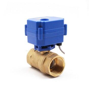 DN25 Brass 1 inch Two Way Motorized Ball Valve DC5V 12V 24V AC220V Electric water valve 1 CR01 CR02 CR03 CR04 CR05 metal gear high quality motorized valves tf15 b2 series brass dn15 1 2 dc5v 12v 24v 2 way electric valves fast closed valve