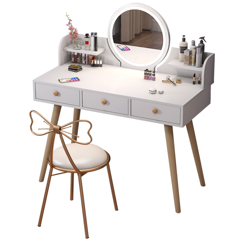 Modern Simple Bedroom Small Household Storage Cabinet Integrated Dresser Net Red Makeup Table Nordic Makeup Table