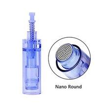 Bộ 50 Chuyên Nghiệp Micro Nano Kim Tròn Hộp Mực Micro Needling Cho Điện Derma Bút Cartucho Hình Xăm Kim