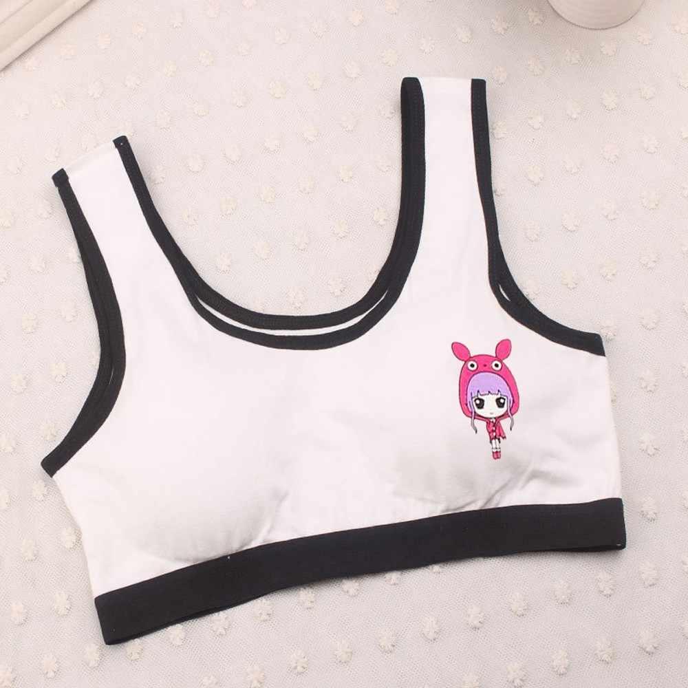 Nieuwe Mooie Meisjes Afdrukken Ondergoed Beha Vest Kinderen Ondergoed Sport Ondergoed Training Bras ondergoed jonge tieners in lingerie