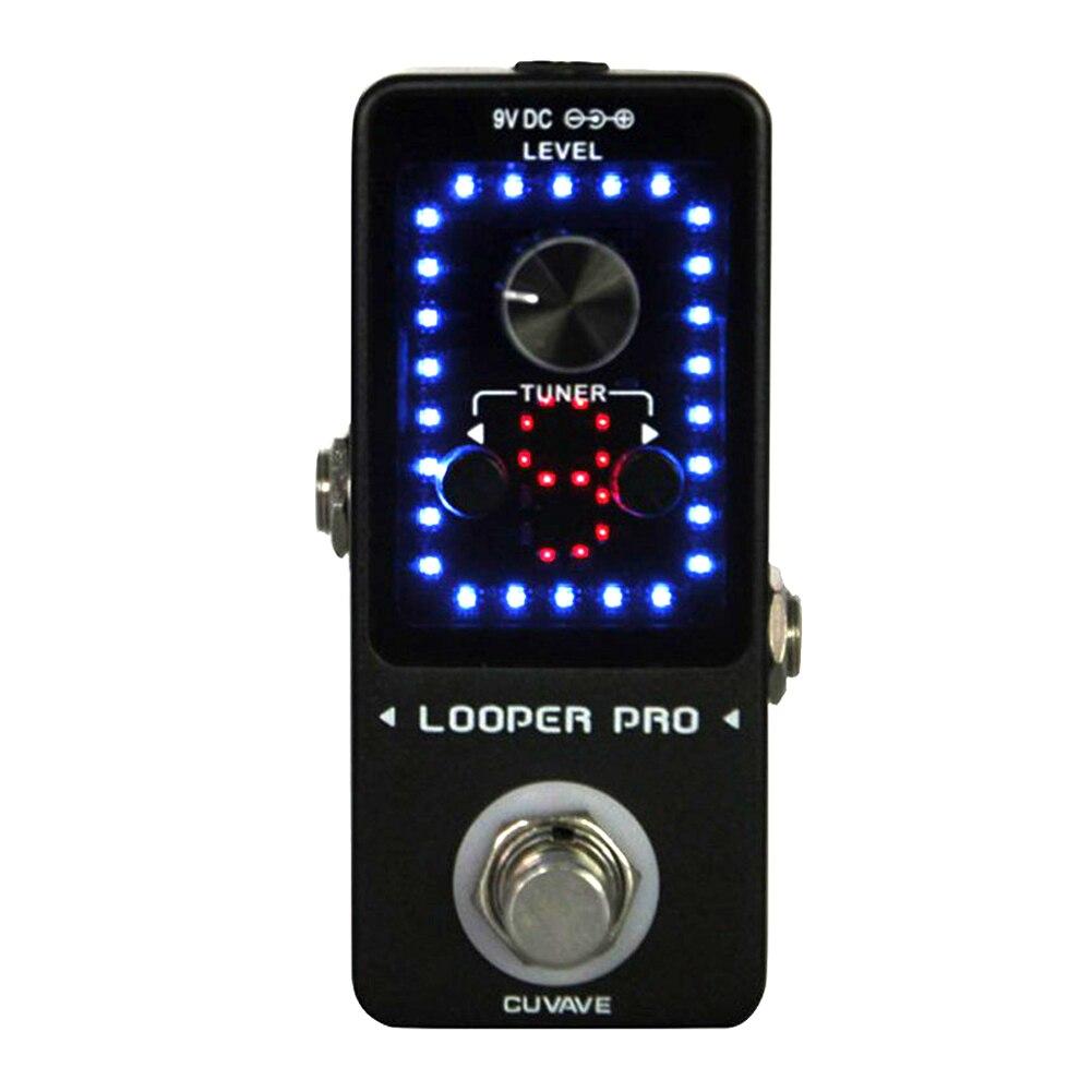 Interface USB de réglage à bloc unique contrôle de Volume convivial enregistrement de guitare monolithique effecteur Mini pédale affichage de mode