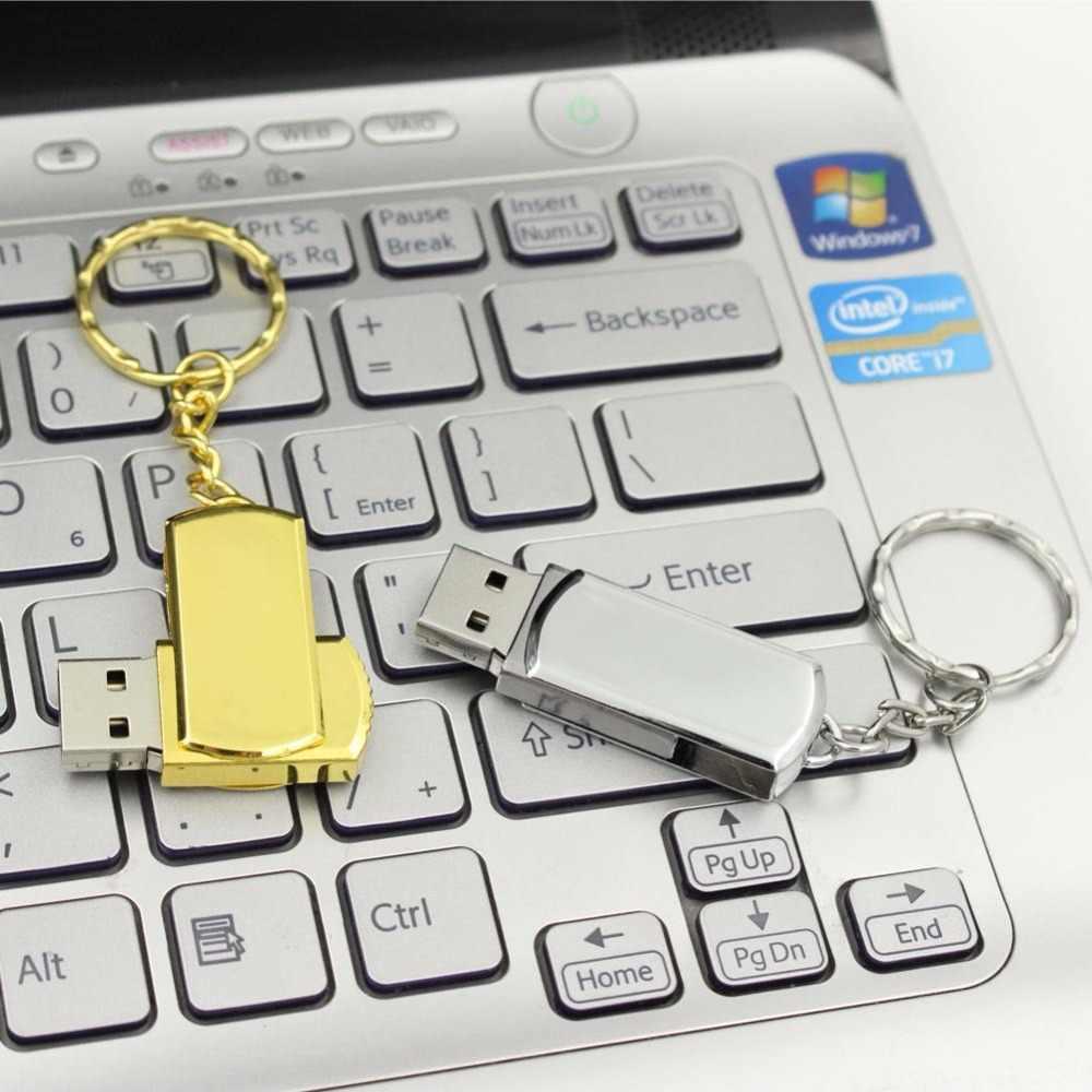 Impermeabile USB Flash Drive In Metallo Pen Drive 4GB 8GB 16GB 32GB 64GB Pendrive USB Bastone flash Drive con Portachiavi