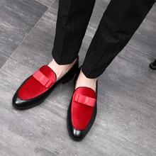Shoes Loafers Flats Wedding-Dress Men Bowknot Slip Male Men Formal Casual Gentlemen on