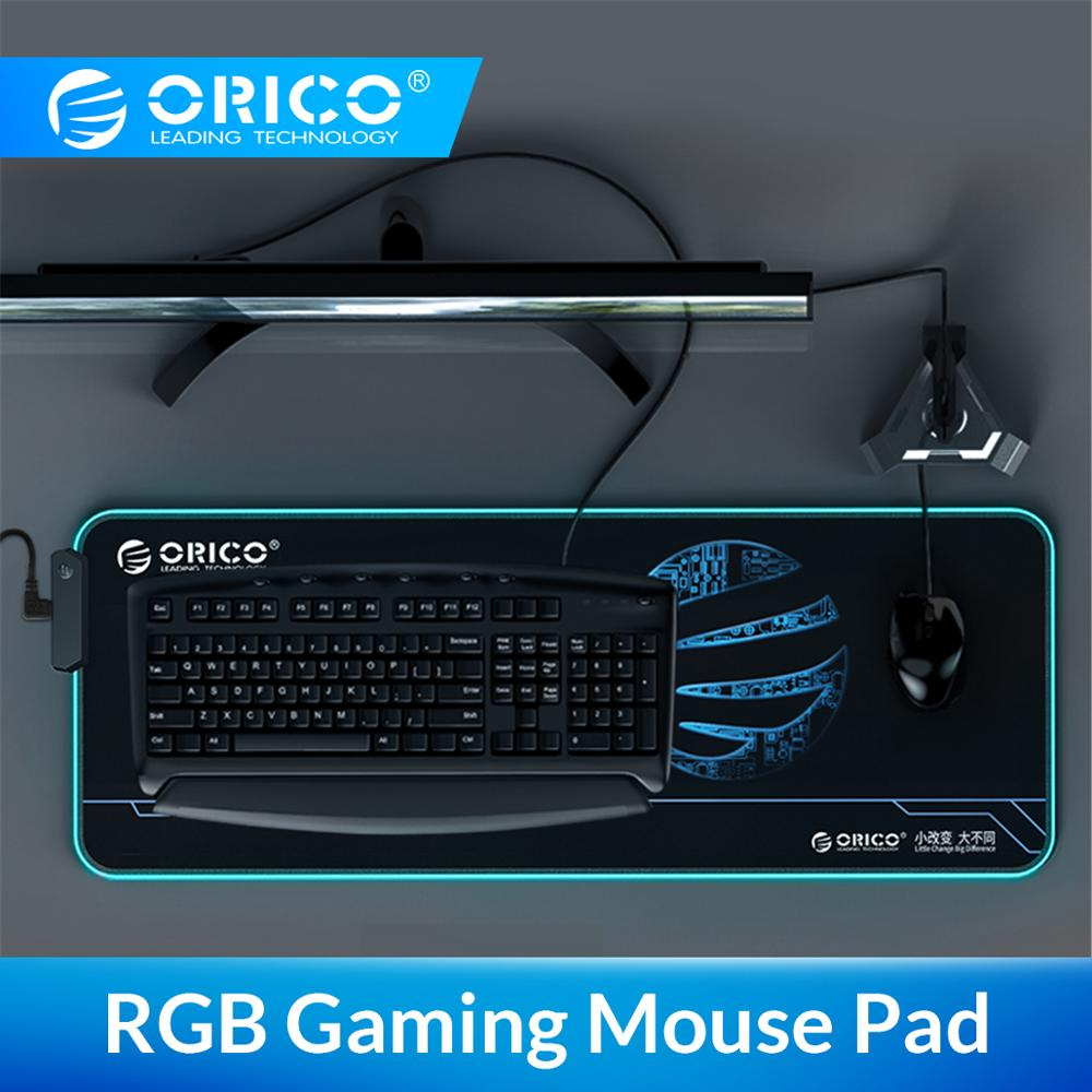 ORICO Gaming Mouse Pad RGB Large Gamer Computer Natural Rubber Non-slip Mousepad With 2M USB USB For Desk Keyboard LED Mice Mat