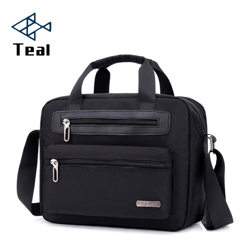 Men's Briefcase High Waterproof Nylon Cloth Bag Shoulder Handbag Light Leisure Bag New Multifunction Pocket Computer Bag
