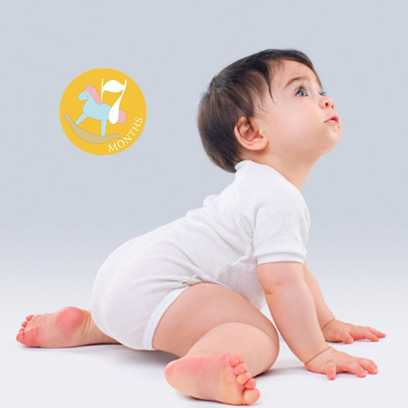 Newborn Milestone Month Sticker Baby Boys Girls Photo Photography Props K4UE