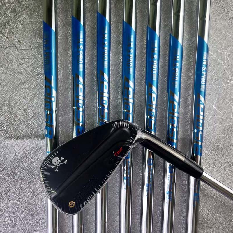 AF TOUR MB Black Skull Irons 4-9P Golf Irons 7piece Graphite Steel Shaft With Rod Cover Golf Clubs Free Shipping