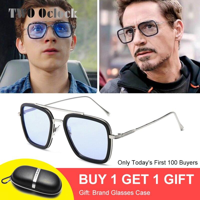 Tony Stark Sunglasses Men Vintage Retro Mens Glasses Iron Man 3 Sungla