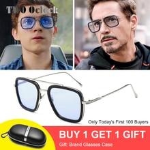 Tony Stark Sunglasses Men Vintage Retro Men's