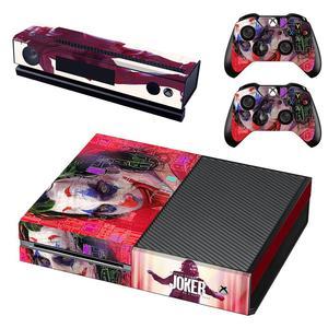 Image 5 - DC Film Die Joker Haut Aufkleber Aufkleber Volle Abdeckung Für Xbox Einer Konsole & Kinect & 2 Controller Für Xbox eine Haut Aufkleber