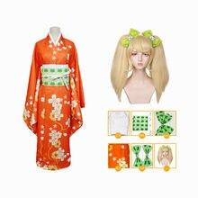 Costume de Cosplay Kimono Anime Super Danganronpa 2 Saionji Hiyoko, ensemble complet