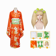 Anime Super Danganronpa 2 Saionji Hiyoko Kimono Cosplay Costume Full Set
