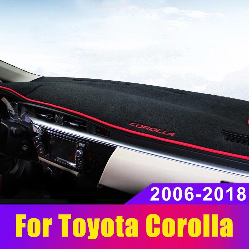 Evitar A Luz do Painel Do carro Instrumento Pad Cover Secretária Plataforma Mats Tapetes Para Toyota Corolla 2006-2014 2015 2016 2017 2018 2019