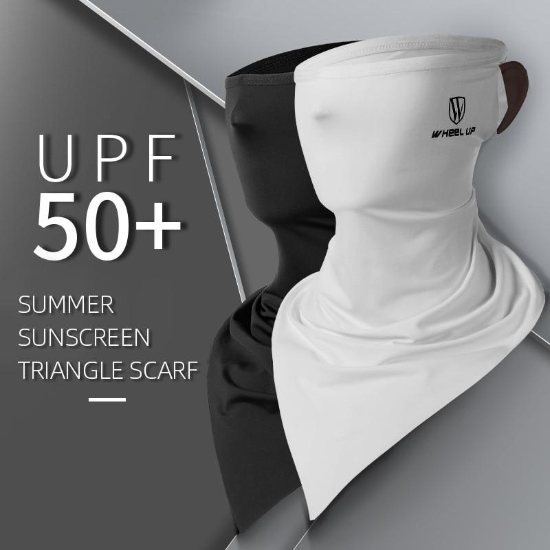 Ice Silk Sunscreen Triangle Scarf Summer Riding Magic Mask Unisex Sunscreen Moisture Wicking Multifunction Shawl Wrap Hang Ear