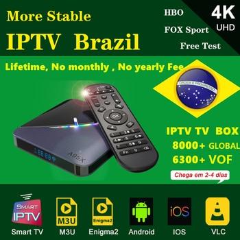 A95X F3 Android 9.0 Smart IPTV Box Amlogic S905X3 WIFI 8K Brazil IPTV Set Top Box Netflix Youtube Media Player better than h96