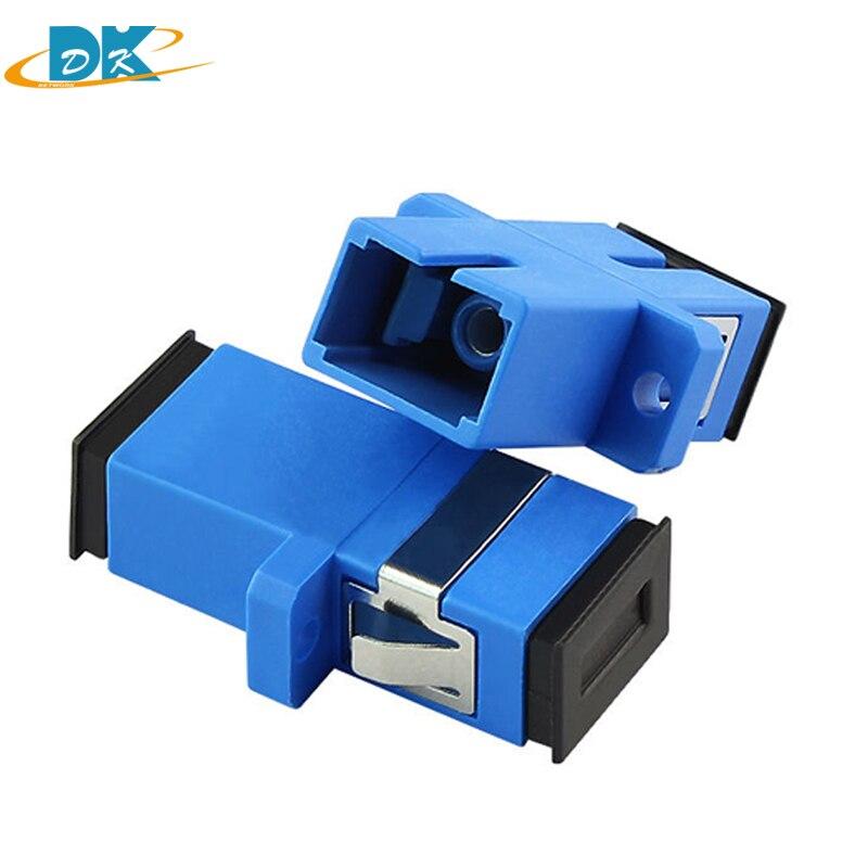 10pcs//lot SC Male to LC Female Adapter Single Mode SM Fiber Optic Connector
