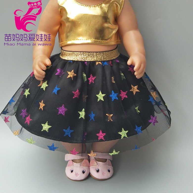 Untuk 17 Inci Boneka Dancing Pakaian untuk 40 Cm BEBE Lahir Boneka Pakaian Celana untuk Boneka Bayi Gadis Tahun Baru hadiah