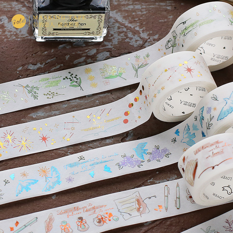 Mohamm 20mmx5m Paper-tape Poetry Series Creative Fresh Kawaii  Washi Masking Tape Paper Scrapbooking Stationery Decorative Tape
