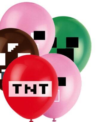 12 дюймов добычи полезных ископаемых пикселей игра воздушных шаров из латекса, латексный шар из фольги День рождения праздничные украшения ...