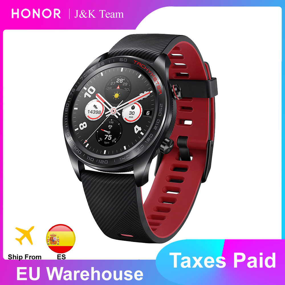 Huawei Honor Watch Magic Smart Watch GPS 5ATM WaterProof Heart Rate Tracker Sleep Tracker Working 7 Days Message Reminder|Smart Watches|...