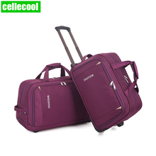 New Thick Style Rolling Suitcase Trolley Luggage Women Men Travel Bags Suitcase With Wheels Waterproof Hand Luggage travel Bag цена