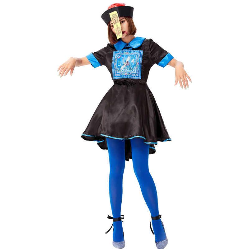 ליל כל הקדושים למבוגרים זומבים תלבושות עבור נשים מכנסיים קצרים שרוולים ליל כל הקדושים שמלת נשים מפחיד שטן מכשפה שחור ערפד שטן