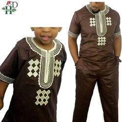 Dashiki eltern kid set 2019 afrikanische kinder kleidung afrikanische männer dashiki kleidung bazin riche hemd hose zwei 2 stück anzüge kinder