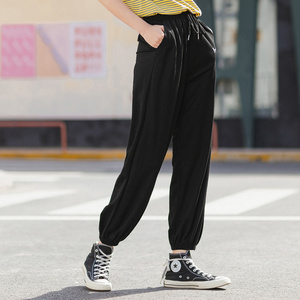 Image 1 - INMAN 2020 여름 새로운 도착 패션 레저 드레이프 벨트 발목 길이 엉덩이 팬츠와 슬림